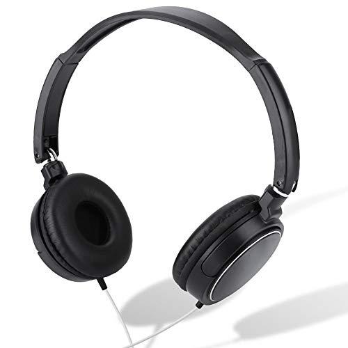 Topiky kabelgebonden headsets, opvouwbare compacte stereo HiFi-muziek koptelefoon met draaibare oorschelp, verstelbare hoofdband, TF-kaart, LINE-IN-audio-ingang voor kantoor/spel/vrije tijd