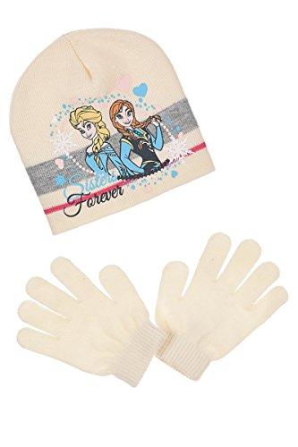 Conjunto gorro y guantes Frozen Disney para niña color beige