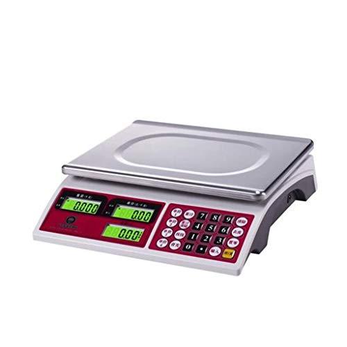 HJTLK Báscula de baño Digital, báscula de pesaje de precisión de 30 kg Báscula Comercial Supermercado Mercado de Frutas y Verduras Báscula electrónica