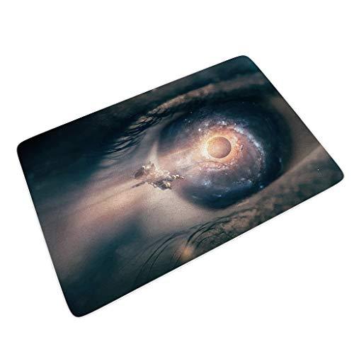 Preisvergleich Produktbild nanjingjin Universe,  Space,  Escort,  Planet,  Aerospace Umweltfreundlich Fußmatten für Willkommensgruß wasserdicht nehmen Sie Feuchtigkeit schnell auf und widerstehen Sie Schmutz mit White 40x60 cm