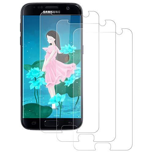 NUOCHENG [3 Stück Panzerglas Schutzfolie für Samsung Galaxy S7, 9H Härte Panzerglas Folie,[HD Clear] [Blasenfrei] [Anti-Kratzer] [Anti-Fingerabdruck] Displayschutzfolie für Samsung Galaxy S7