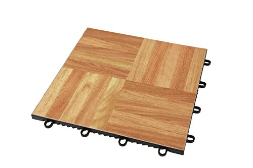 IncStores - Modular Grid - Loc Dance and Garage Flooring 12' x 12' Tiles Sold Individually (Oak)