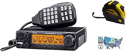 Bundle - 3 Items - Includes Icom IC-2300H 65W 2M Mobile Radio with The New Radiowavz Antenna Tape (2m - 30m) and HAM Guides Quick Reference Card