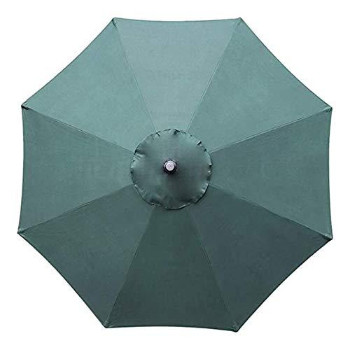 Parapluies d'extérieur, Parasols de Table à Manger de Patio de 9 Pieds, avec Bouton inclinable et manivelle, 8 Nervures en Acier Robustes-Vert foncé