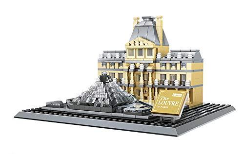 Steinchenshop Wange Klemmbausteine Architektur Set Noppensteine Konstruktionsspielzeug (Louvre)