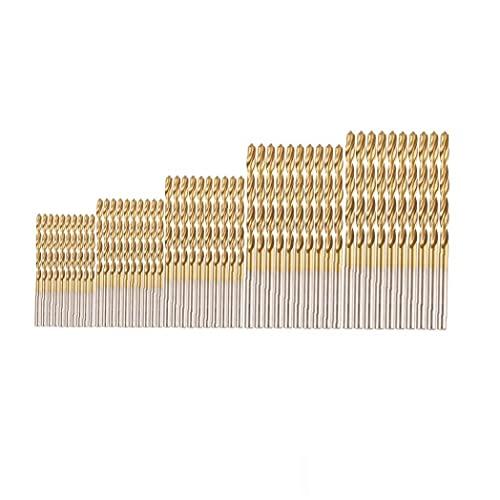 1set (50pcs) Profesional Brocas Conjunto De Métricas De Alta Velocidad De Acero De Alta Velocidad Mini Brocas para Madera De Acero De Plástico De Aleación De Aluminio