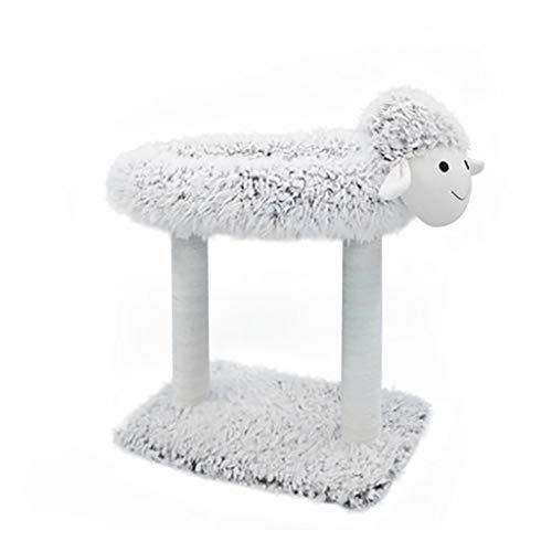 Lam-vormig Kattennest, Krabpaal Voor Zomerkatten Krabpaal Met Geïntegreerd Nest, Schattig Lamvormig Kattenspeelgoed Voor Huisdieren,style2