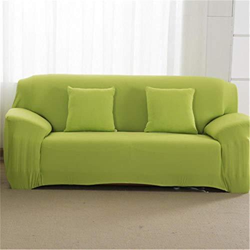 JIAYAN Funda elástica para sofá, Funda elástica y Ajustada, Fundas de sofá con Todo Incluido para Sala de Estar, Fundas Protectoras de Muebles para sillas, Verde Claro, S-1-Seat-90-140cm