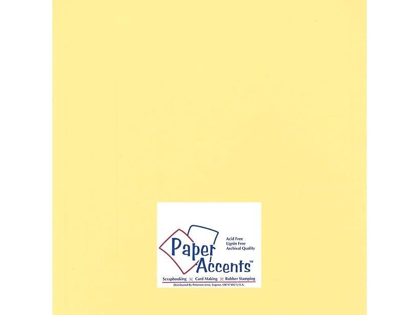 Accent Design Paper Accents Cdstk Hvywght Smooth 12x12 100# Wildflower Honey