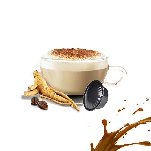 50 Capsule Caffè Solubile al Ginseng Compatibili Lavazza A Modo Mio - Cialde Solubile Ginseng