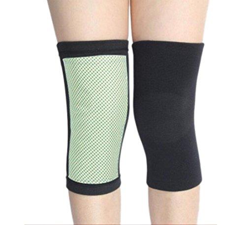 OOFWY Aros de Fibra de carbón de bambú Caliente Keeper Knee Manga Patas de Apoyo de la Pierna Kneecap para Deportes al Aire Libre Voleibol Baloncesto Danza Bicicleta de Escalada Yoga
