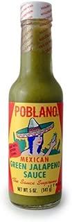 Poblano Mexican Green Jalapeno Hot Sauce, 5 fl oz
