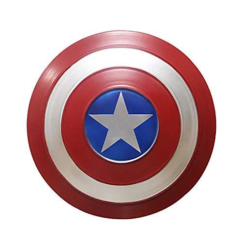 Escudo de Capitn Amrica hecho de metal, accesorios de cosplay, superhroe, disfraz retro, escudo de Halloween, 75 aniversario, para adultos y nios, bar, decoraciones