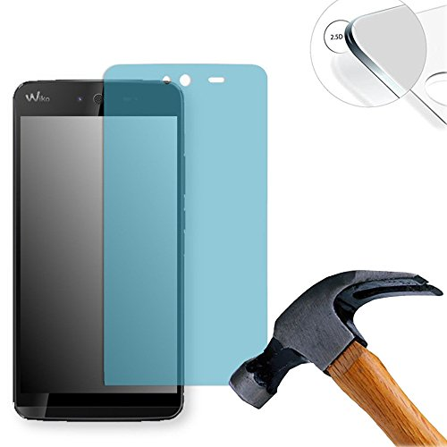 Lusee 2 Stück Schutzfolie für Wiko Rainbow Jam 4G 5.0 [9H Festigkeit] Bildschirmschutzfolie HD Schutzfolie [Anti Kratzer] [Anti Fingerabdruck] 2.5D Panzerfolie für Wiko Rainbow Jam 4G 5.0