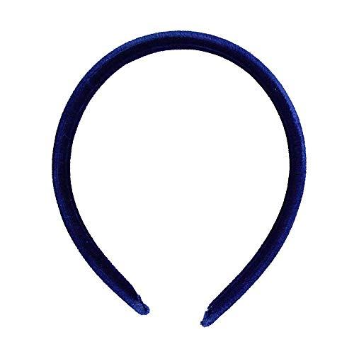 Serre-tête Alice de 1 cm de large, toucher velours bleu roi