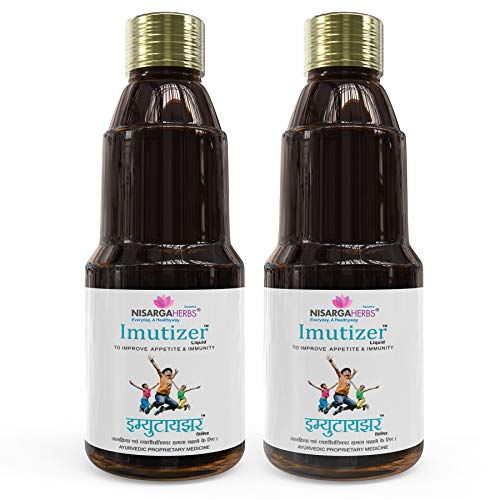 Nisarga Herbs Imutizer Syrup, Improve Appetite and Immunity in Children - 100% Organic, Ayurvedic & Natural - 150 ml Each (Pack of 2)