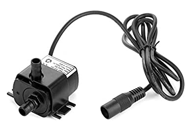 [Upgraded Version] 12 Volt Small Water Pump, 63 GPH Mini Submersible Pump for Small Water Fountain, Water fall, Aquarium, Pet drinking System, irrigation system and other Water circulation application