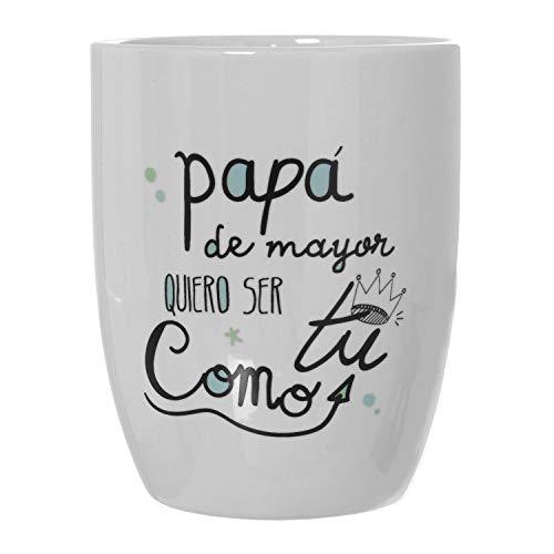 DRW Taza Desayuno Original Frase Positiva (Taza papá de Mayor)
