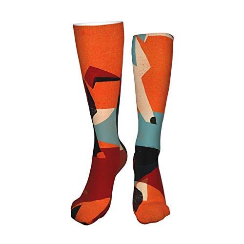 Decams Calcetines unisex de muslo alto, par de calcetines largos, calcetines altos, calentadores de pierna alta, calcetines deportivos