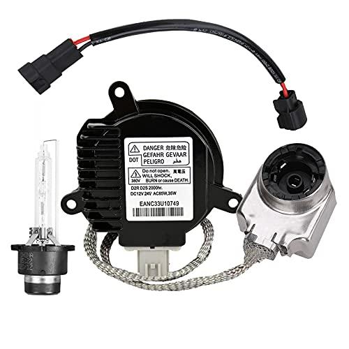 Xenon HID Headlight Ballast Headlight Control Unit with Igniter and D2S Bulb Compatible with Nissan Infiniti G35 G37 M35 M45 M37 M56 Fx35 Fx37 Fx50 Nissan 350z 370z Altima Maxima Murano