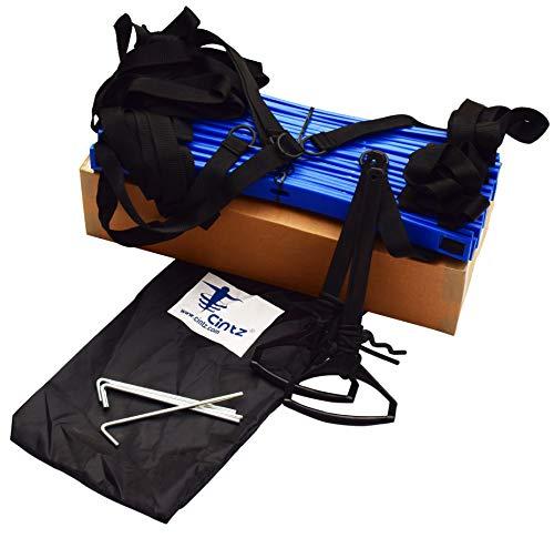 Product Image 3: Cintz Speed Ladder- Blue Dual Rungs Agility Ladder Soccer Training Ladder – Heavy Duty