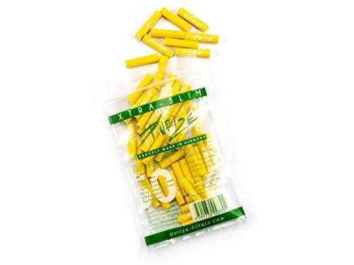 50er PURIZE® Xtra Slim Size Aktivkohlefilter Set - GELB