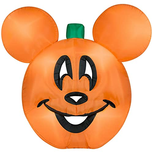 Gemmy 9 1/2 Airblown Inflatable Disney Mickey Mouse Pumpkin...