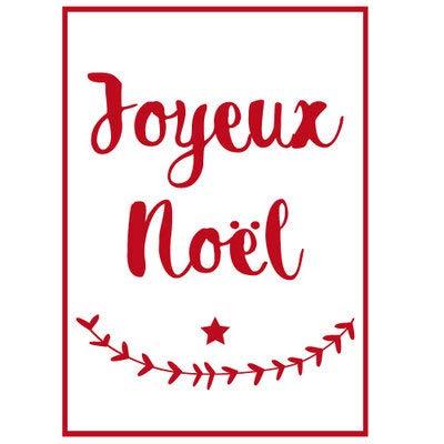 Sticker de Noël pour Vitre ou Surface Murale Joyeux Noël - Rouge(21x30cm)