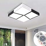 LED Lámpara de Techo 48W Interior Plafón Moderna LED de Techo Rectangular De Dormitorio Cocina Sala de estar Comedor Balcón Pasillo (Regulable 3000-6500K)