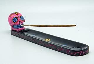 Fantasy Gifts Pink Day of the Dead Sugar Skull Mexican Dia De Los Muertos Incense Burner