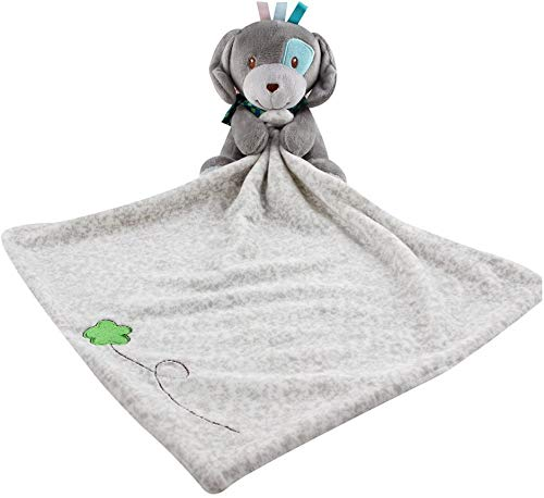 StoHua Baby Comforter Taggy Blanket Toddlers Lovely Cuddles Security Blanket for Baby Soft Sleeping Blankets Cute Animal Design Plush Stuffed Blankie(Puppy)