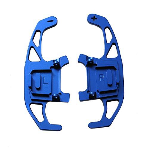 N\A Levas en el Volante, Rueda del asador de automóviles Shift Paddle 2pcs Shifter extendido para Scirocco 2014 2015 16 17 18 2019 (Color : Blue)