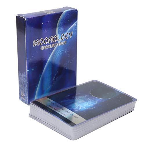 Tarjeta de Tarot Flash de Holograma, 78 Cartas de Oracle Tarot Cartas de Oráculo de Moonology Destino Adivinación Adivinación Tarot Deck Juego de Mesa para Amigos de la Fiesta Familiar