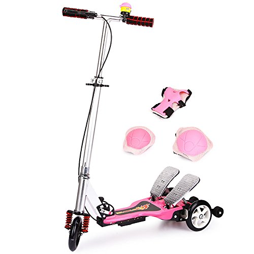 New Tricycle Scooters 3 Wheels Children Kick Scooter 5-6-14 Year Old Skateboards Foldable Stroller L...