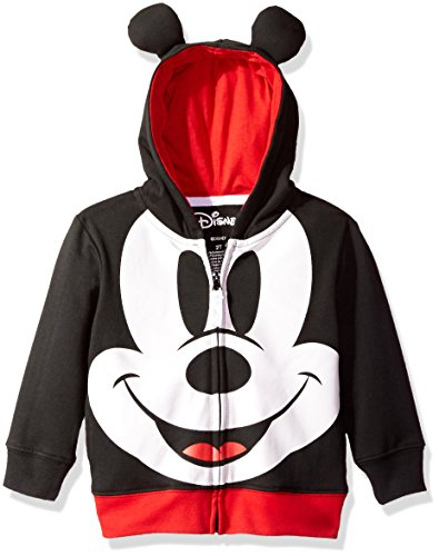 Disney Toddler Boys' Mickey Mouse Costume Hoodie, Black, 5T