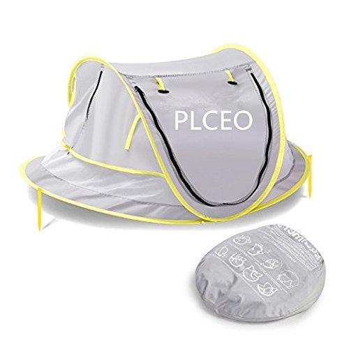 Baby-Reisebett, tragbare Babys Strandzelt UPF 50 + Sonnenschutz, pop-up-Moskitonetz und 2 Zapfen, super Leichtgewicht