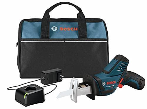 BOSCH 12-Volt Max Pocket Reciprocating Saw Kit PS60-102, Blue
