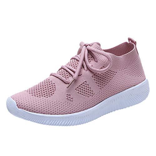 Orthopedic Walking Sandals, Mesh Slip On Air Cushion Garden Shoes, Summer Platform Mesh Mules Sneaker Sandals, Women's Breathable Casual Air Cushion Slip on(C25_Pink,41)