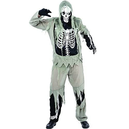 Ciao 16385 - Skeleton Zombie Costume Adulto, Taglia L