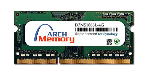 Arch Memory Replacement for Synology D3NS1866L-4G 4 GB DDR3L-1866 PC3L-14900 204-Pin So-dimm RAM for DiskStation DS418play