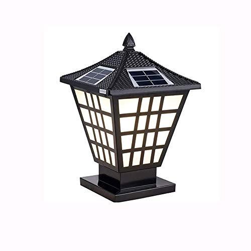 ZLMAY Europa Valla lámpara de Pared Poste Columna Faros Luces de jardín al Aire Libre Impermeable Retro Villa Sujetador Accesorios de Pared Luces de Pilar