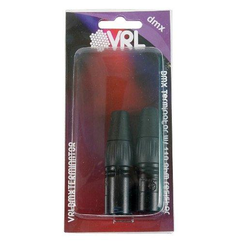 Elite Core VRL VRLDMXTERMINATOR 3-Pin and 5-Pin DMX Terminator Set