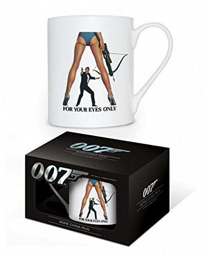 1art1 James Bond 007, for Your Eyes Only Foto-Tasse Kaffeetasse (9x8 cm) Inklusive 1x Überraschungs-Sticker