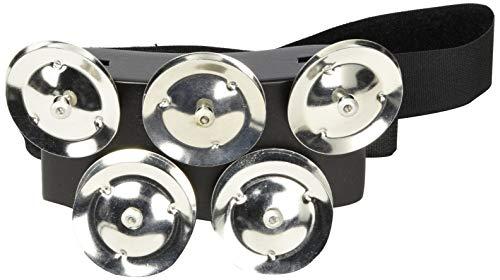 Meinl Percussion CFT5-BK Cajon Fuß Tambourine mit Edelstahlschellen und MDF Rahmen schwarz