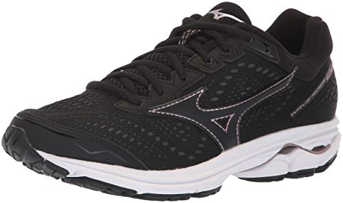 Mizuno Women's Wave Rider 22 Running Shoe, Black/Rose Gold, 9 UK