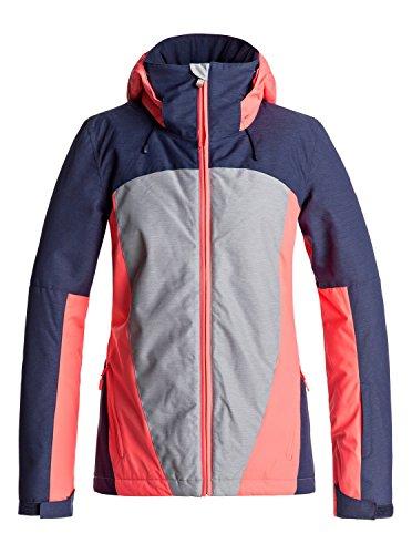 Roxy Damen Sassy Snowboard Jacke, lila grau pink, M EU