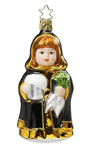 Inge-Glas Munich Maiden 1-023-16 German Blown Glass Christmas Ornament Gift Box