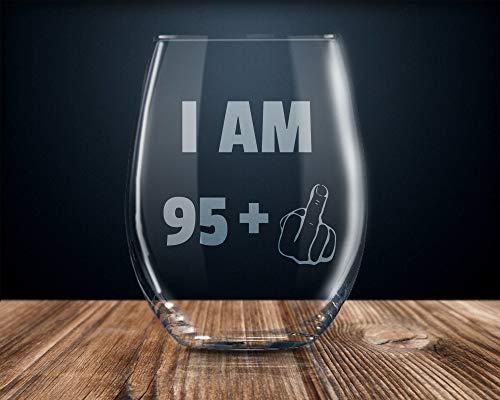 Copa de vino de 96 cumpleaños, fiesta de 96 años, 96 años, 96, 96, 96, 96 años, 11 oz