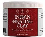Aiva Indian Healing Clay | Deep Pore Cleansing Facial & Body Mask | Healthcare 100% Natural Calcium Bentonite Clay - 1lb