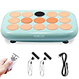 AOKCOS Vibration Plate Exercise Machine, Full Body Workout Fitness Platform with Loop Bands, Motor Oscillation for Weight Loss, Home Training Shaping VP790001PG